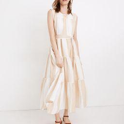 Madewell x LAUDE the Label Organic Linen Tiered Maxi Dress in Tulum Stripe | Madewell