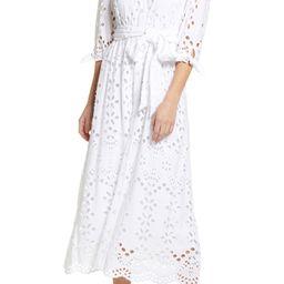 Amrita Eyelet Embroidered Shirtdress | Nordstrom