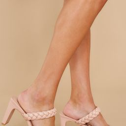 The Final Step Nude Blush Braided Heels | Red Dress