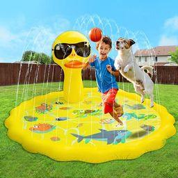 "ROYPOUTA Splash Pad, Sprinkler for Kids 68"", Splash Pads for Toddlers Outdoor Water Toys Basketba... | Amazon (US)"
