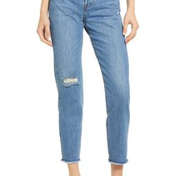 Wedgie Icon Fit High Waist Nonstretch Straight Leg Jeans | Nordstrom