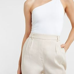 Body Contour One Shoulder Thong Bodysuit Women's White | Express