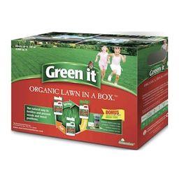 Green It Organic Lawn in a Box 2x4.4lb Liquid Corn Gluten(4-0-0) 1x4.4lb Fish & Seaweed(2-1-3) 3 ... | The Home Depot