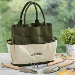 My Garden Personalized 4-Piece Garden Tote and Tool Set | Bed Bath & Beyond | Bed Bath & Beyond