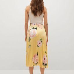 Pleated floral skirt   MANGO (US)