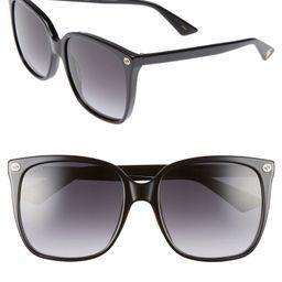 57mm Gradient Square Sunglasses | Nordstrom