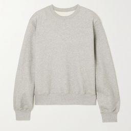 Grau Vanessa Sweatshirt aus Baumwoll-Jersey | Frankie Shop | NET-A-PORTER | Net-a-Porter (UK & EU)