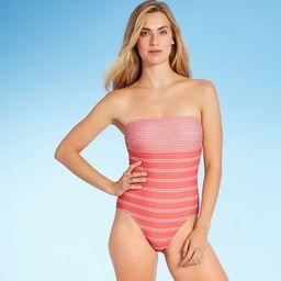 Women's Modern Lines Bandeau Classic One Piece Swimsuit - Kona Sol™ Multi Stripe | Target