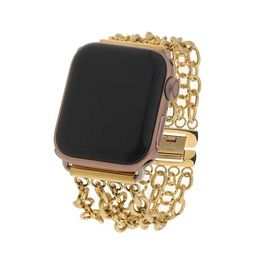Gold Plated Linked Chain Apple Watch Band   Victoria Emerson