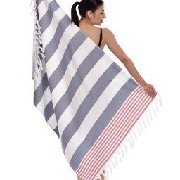 100% Turkish Cotton Patriotic Pestemal Beach Towel - Ocean Blue   Nordstrom Rack