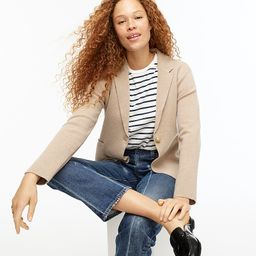 Camille shrunken sweater-blazer   J.Crew US