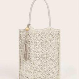 Tassel Decor Tote Bag | SHEIN