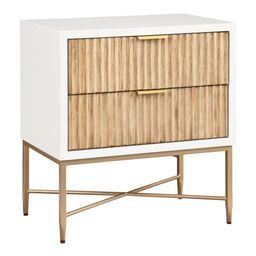 Textured Wood Ashbury Nightstand with Drawers | World Market