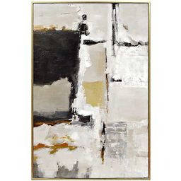 Neutral Abstract Framed Canvas Art Print   Kirkland's Home