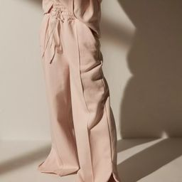 Re_Styld Pink Seam Front Wide Leg Joggers | Missguided (US & CA)