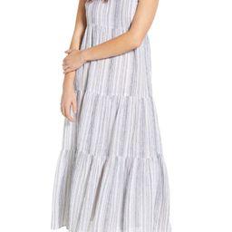 Lana Stripe Linen & Cotton Tiered Midi Sundress | Nordstrom