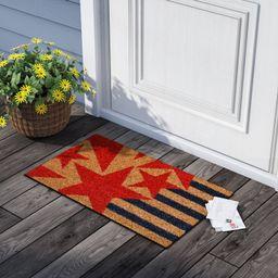 Tena Stars and Stripes 29 in. x 17 in. Non-Slip Outdoor Door Mat | Wayfair North America