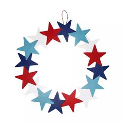 Hanging Star Wreath Red White Blue - Sun Squad™ | Target