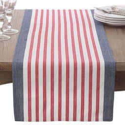 Saro Striped Cotton Table Runner | Walmart (US)