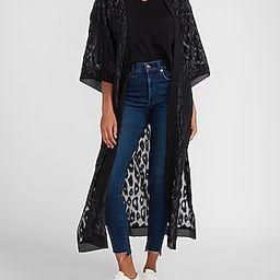 Leopard Jacquard Kimono Cover-Up | Express