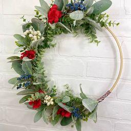 Patriotic WreathMemorial Day Wreath4th of July Hoop | Etsy | Etsy (US)