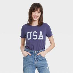 Women's USA Short Sleeve Graphic T-Shirt - Blue | Target