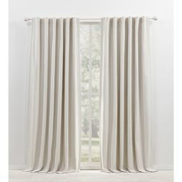 Sallie Cotton Blend Blackout Thermal Rod Pocket Single Curtain Panel | Wayfair North America