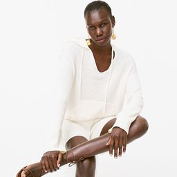 Ribbed cotton-cashmere hoodie | J.Crew US