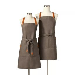 Full Apron Waxed Canvas with Leather Gray - Hilton Carter for Target | Target