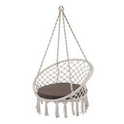 Better Homes & Gardens Harlow White Tassel Rope Hammock Swing Chair   Walmart (US)