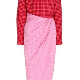 Colorblock Windowpane Cotton Shirt Dress | Moda Operandi (Global)
