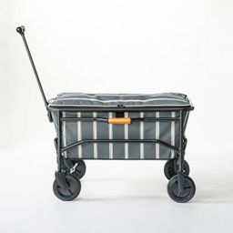 Woven Stripes Collapsible Utility Wagon Gray/White - Hearth & Hand™ with Magnolia   Target