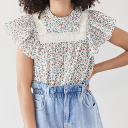 Bubbie Ditsy Short Sleeve Top | Shopbop
