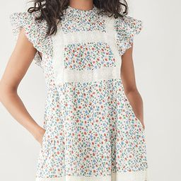 Bubbie Ditsy Short Sleeve Tiered Tunic | Shopbop