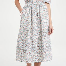 Bubbie Ditsy Short Sleeve Ruffle Midi Dress | Shopbop