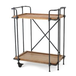 Eden Firwood and Iron Bar Cart - Antique Finish - Christopher Knight Home   Target