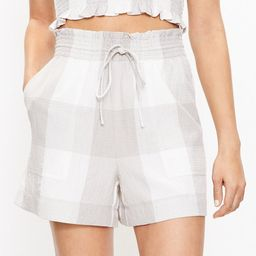 Lou & Grey Gingham Puckered Shorts   LOFT   LOFT