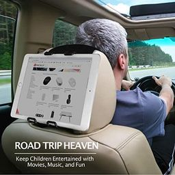 Macally Tablet Car Headrest Mount Holder for Kids in Back Seats - Adjustable Strap Fits Most Head... | Amazon (US)