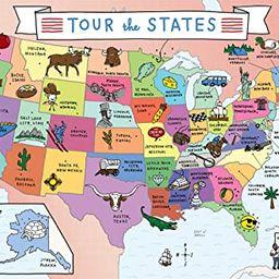 Buffalo Games - Tour The States - USA Map - 300 Large Piece Jigsaw Puzzle   Amazon (US)