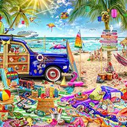 Buffalo Games - Aimee Stewart - Beach Vacation - 1000 Piece Jigsaw Puzzle   Amazon (US)