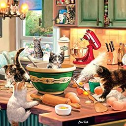 Buffalo Games - Kitten Kitchen Capers - 300 Large Piece Jigsaw Puzzle   Amazon (US)