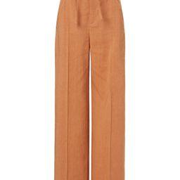 Novio Belted High-Rise Hemp-Blend Wide-Leg Pants | Moda Operandi (Global)