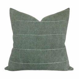 Green Vintage Pillow Cover // Farmhouse Decor Pillow // Gage   Etsy   Etsy (US)