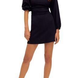 Biana Long Sleeve Lace-Up Back Minidress | Nordstrom