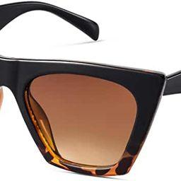 Mosanana Square Cat Eye Sunglasses for Women Trendy Style Model-SHINE | Amazon (US)