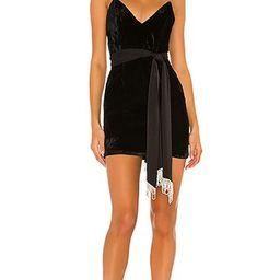 Camila Coelho Jaylene Mini Dress in Black. - size L (also in M, XXS)   Revolve Clothing (Global)