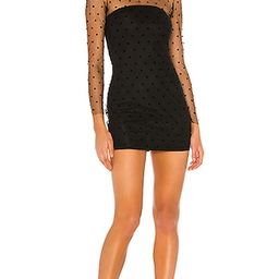 superdown Madie Sheer Mini Dress in Black. - size XL (also in XS)   Revolve Clothing (Global)