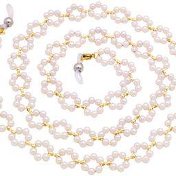 KAI Top Eyeglass Chain Sunglasses Chain for Women Girls Fashion White Pearl Flower Bead Eyewear R... | Amazon (US)