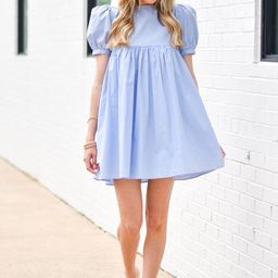 Time For Tea Dress - Powder Blue | The Impeccable Pig