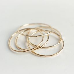 Thin Gold Band - Simple 14K Gold Ring   Etsy (US)